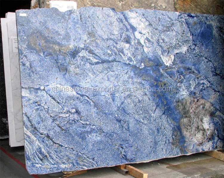 Blue Marble Slab : Brazilian sodalite blue granite slabs buy