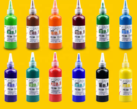 60g no-toxic and washable finger paints watercolor painting drawing doole graffiti