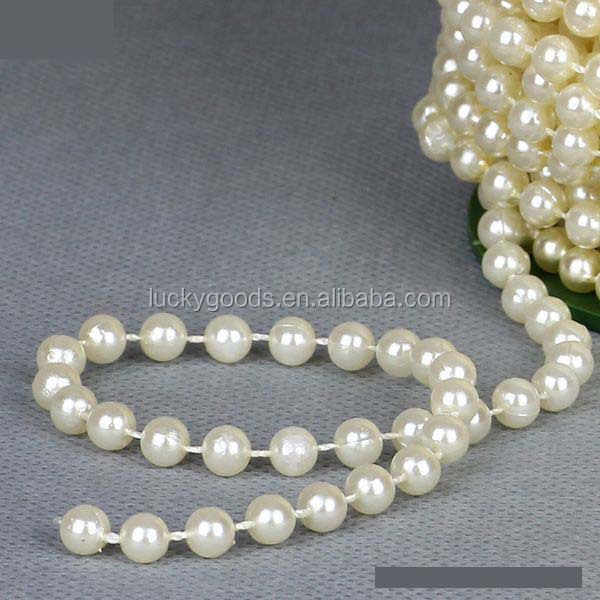 RG011-2 8mm ivory wedding or party decorative pearl beaded garland wholesale