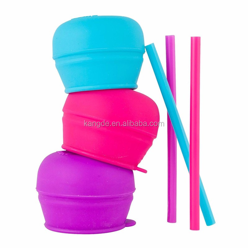 2017 Amazon Hot Sale Stretchable Any Cup Cover Silicone Sippy Cup Lids