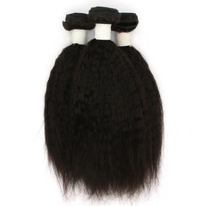 Wholesale Price Remy Virgin Yaki Straight Human Brazilian Hair Weft