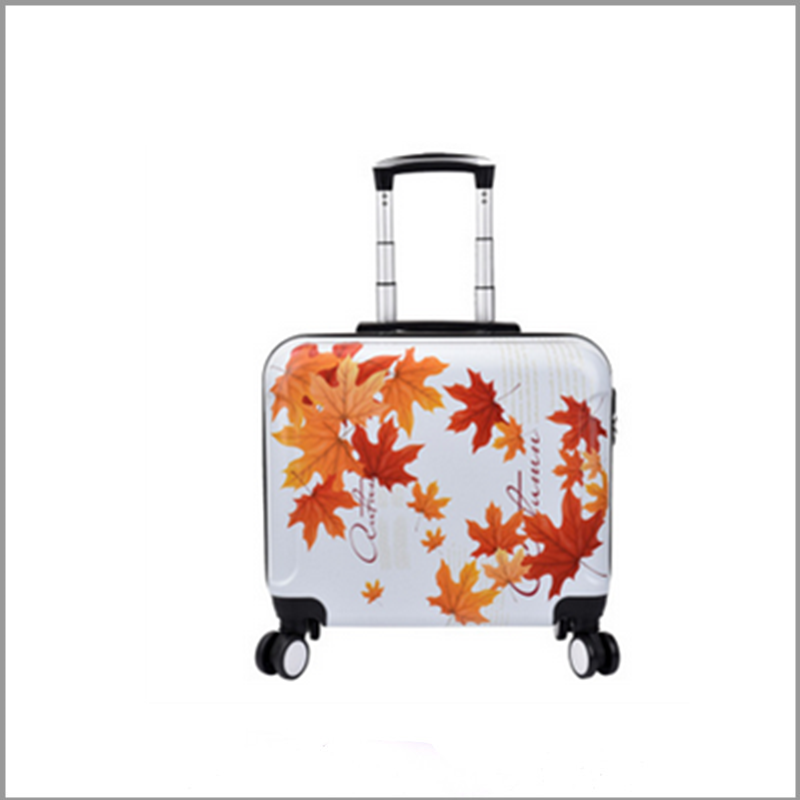 high quality eminent colorful print hard pc material laptop carry on suitcase with four wheels