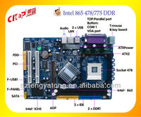 latest product intel 865 support socket 478 motherboard with desktop computer