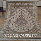 YILONG 6'x9' Authentic Persian design handmade wool and silk rug