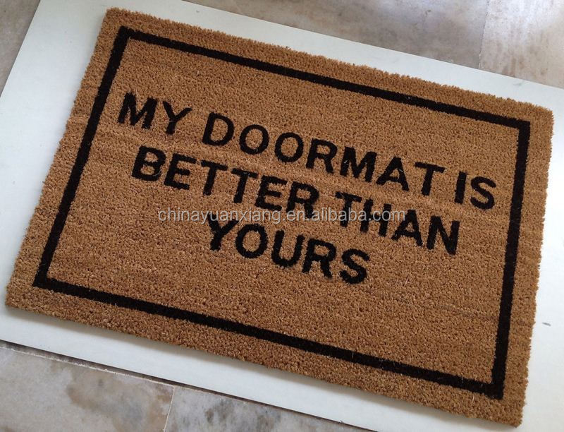 Natural Fiber Door Mats, Natural Fiber Door Mats Suppliers And  Manufacturers At Alibaba.com