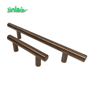 Modern brass t bar furniture kitchen cabinet door handles