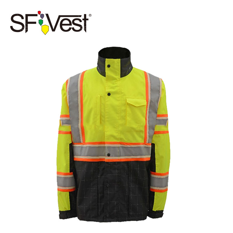 Romantic Sfvest En471 Hi Vis Vest Safety Vest With Logo Printing Workwear Safety Jacket Free Shipping Workplace Safety Supplies Security & Protection