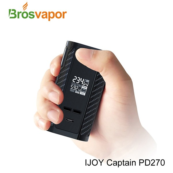 First Dual 20700 Battery 6000mAh/ 234W IJOY Captain PD270 TC BOX MOD with IJOY RDTA 5 tank