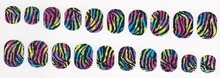 2016 newest 18 strips press fashion ci si series 3d wrap Fashionable nail art polish stickers