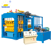 construction machinery QT10-15 hollow Hydraulic fully automatic cement concrete brick block making machine