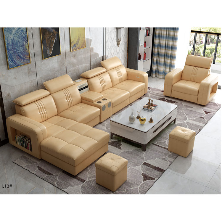 L13 Luxury Italian Heated Fancy Modern Modular Massage Living Room  Furniture Wooden Lounge Big L Shaped Real Cow Leather Sofa - Buy  Sofa,Leather ...