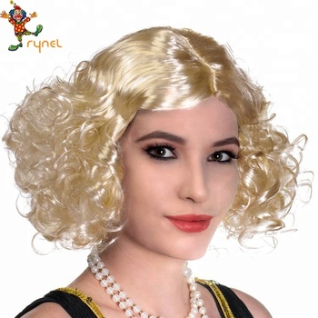 Ladies Fashion Wig Short Curly Blonde Natural Hair Women s Wigs ... f361085ae9