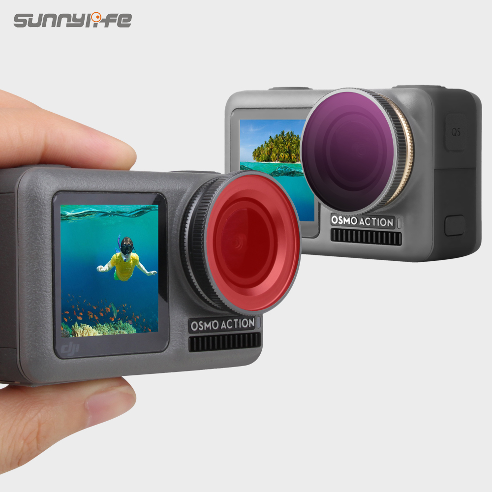 Sunnylife Sport Camera Lens Filter ND/PL CPL Diving Filters for DJI OSMO Action