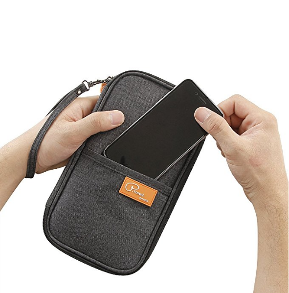 Family Passports Holder with Removable Wristlet Strap For Travel Wallet