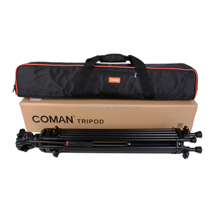 Aluminium Professional  Coman tripod video  With Fluid Ball head DX16L go pro for Nikon camera