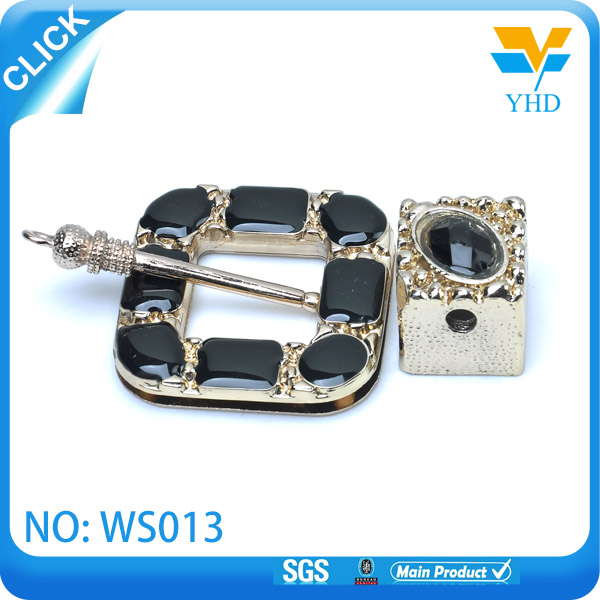 Crystal metal bag turn lock for handbag