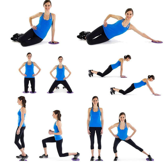 Core Exercise Sliders Gliding Discs Abdominal and Gluteal Muscles
