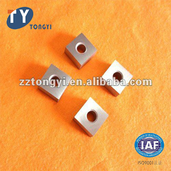 Tungsten carbide chain saw inserts for cutting marble