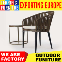 terrific promotion outdoor furniture set rope rattan chair & aluminum table