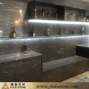 High Quality Natural Brown Silk Stone Bar Tops