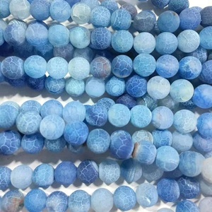 8MM&10MM Dragon Scale Agate Frosted Gemstones