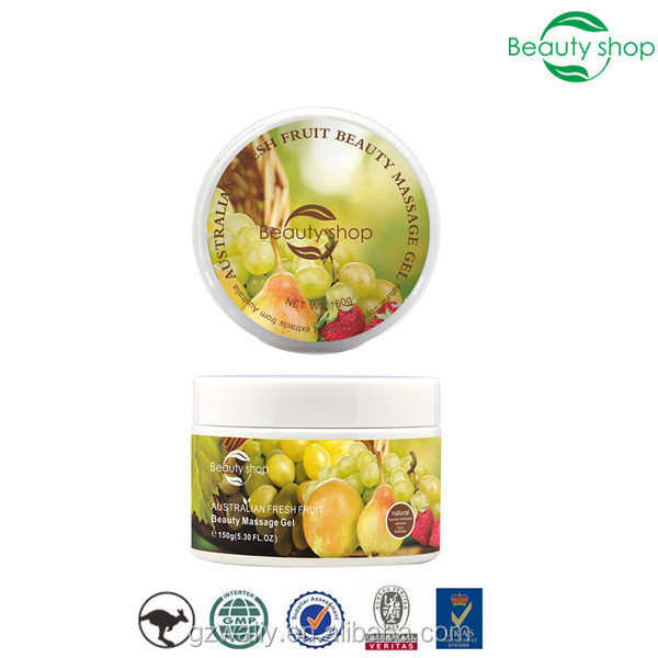 Australian fresh fruit beauty massage face gel