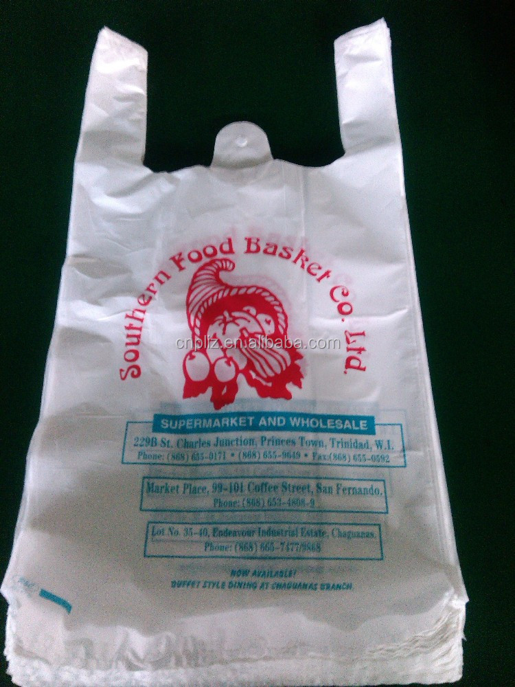 plastic shopping bag/T-shirt plastic shopping bag/Custom printed plastic shopping bag