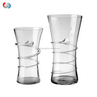 Glass Vases In Differing Unique Shapes - Ideal for Floral Arrangements and DIY Craft Projects