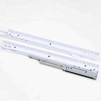 Powder Drawer Channel Rail Slides With Soft Closing Hydraulic Gas Spring Telescopic Damper Buffer European Style