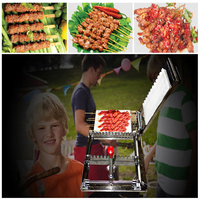 beef fillet kebab wear string machine/ mutton ball wearing string machine/ small fish wear string machine