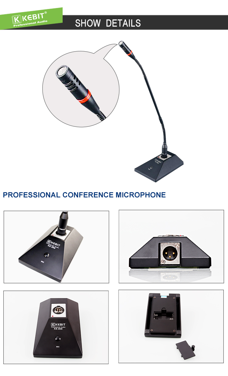 KE-808 KEBIT   New Product Wireless Gooseneck Conference Microphone Stands