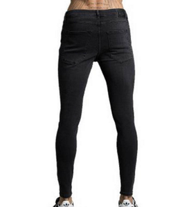 OEM Custom All Season Jeans Black Washed Cool Ripped Sweat Pants Slim Gym Trousers Fitness Casual Bottom Joggers