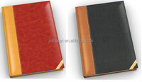 leather journal with golden corners