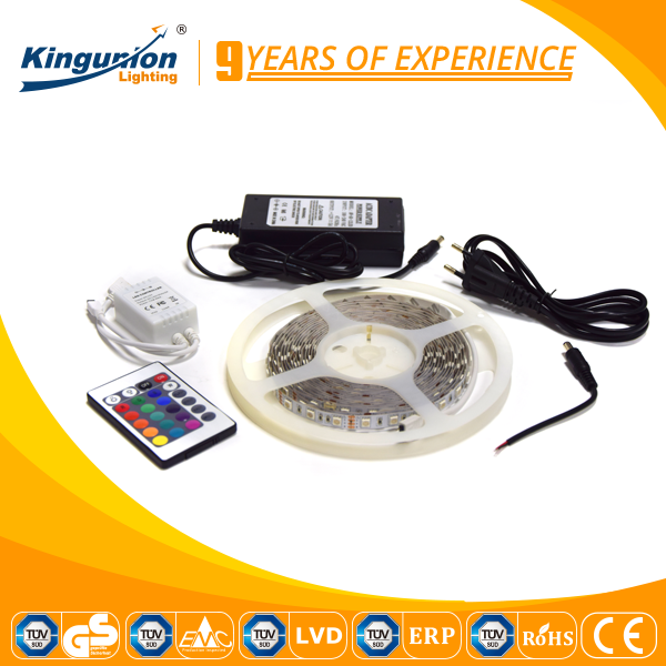 CE GS CB approved strip kit SMD5050 RGBW strip kitLed Strip Light Kit with IR24 Key Remote Controller