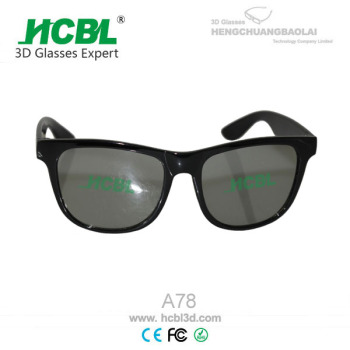 Hard Frame Linear polarising IMAX 3D Glasses With 45 / 135 Degree