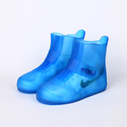 Reusable silicone rain shoes cover PVC rain boots waterproof safety rain boot and reusable shoe cover in stock