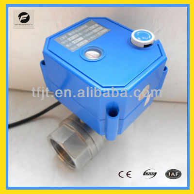 "CWX-25S 1"" Stainless Steel 304 AC/DC9-24V motor ball ON-Off valve with manual override operation"