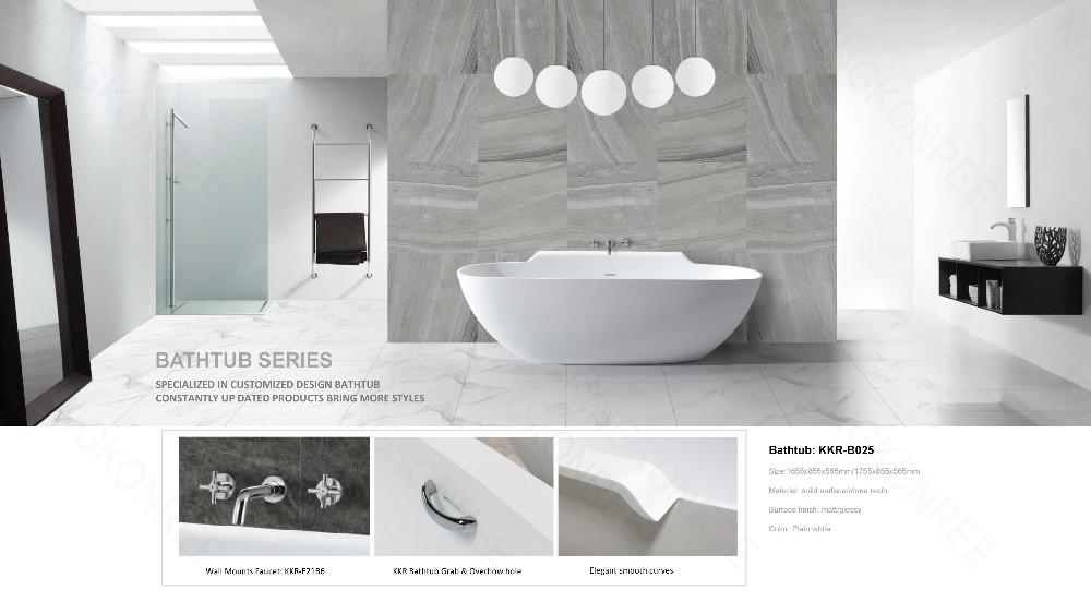 Freestanding White Solid Surface Acrylic Bathtub Malaysia - Buy ...