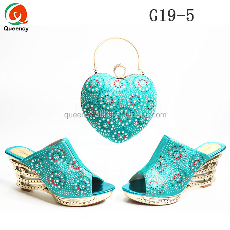 Italian G20 Slippers Hot African Queency Shoes Bags Design Party Matching and wwqxH1Bzr