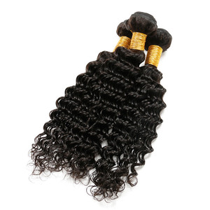 Wholesale Cheap High Quality Virgin Human handtied remy Hair weave bundles virgin Deep wave Malaysian hair extensions and wigs
