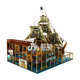 Brown Family Kids Slide Digital Playground Pirate Ship Theme Indoor Soft Centre Ball Pit Playground
