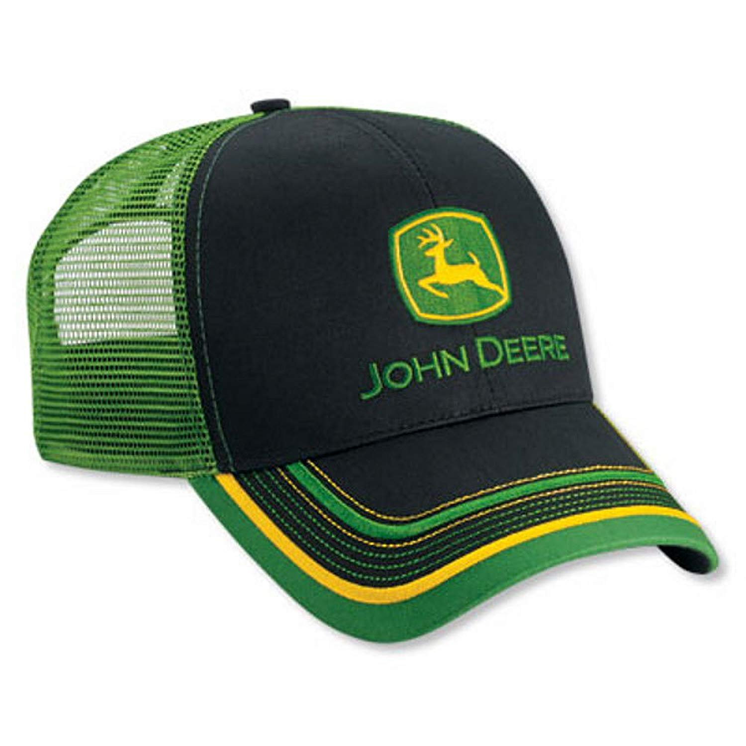 Mens John Deere Hat/Cap (Black/Green Mesh) - LP52392