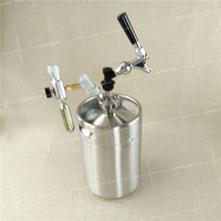 5 liter mini kegs tap cooling with ball lock for gift