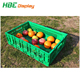 supermarket plastic collapsible fruit crate for sale