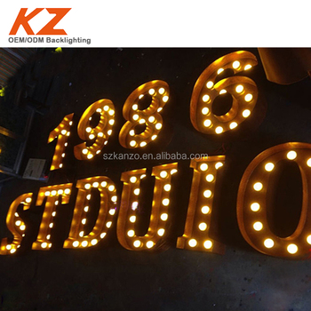marquee lighting. LED Filament Bulb Rusty Marquee Lights Lighting