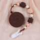Silicone Biscuit Oreo Cookies Baby Teething Toy Necklace Chew Beaded Pendant Holder Pacifier Chain