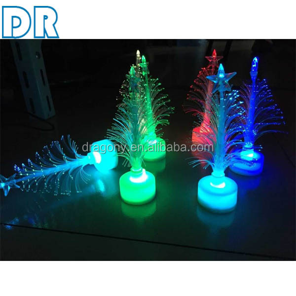 Color Changing Light crystal table lamp led fiber optic christmas tree decoration