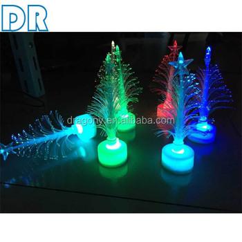color changing light crystal table lamp led fiber optic christmas tree decoration - Color Changing Christmas Tree Lights