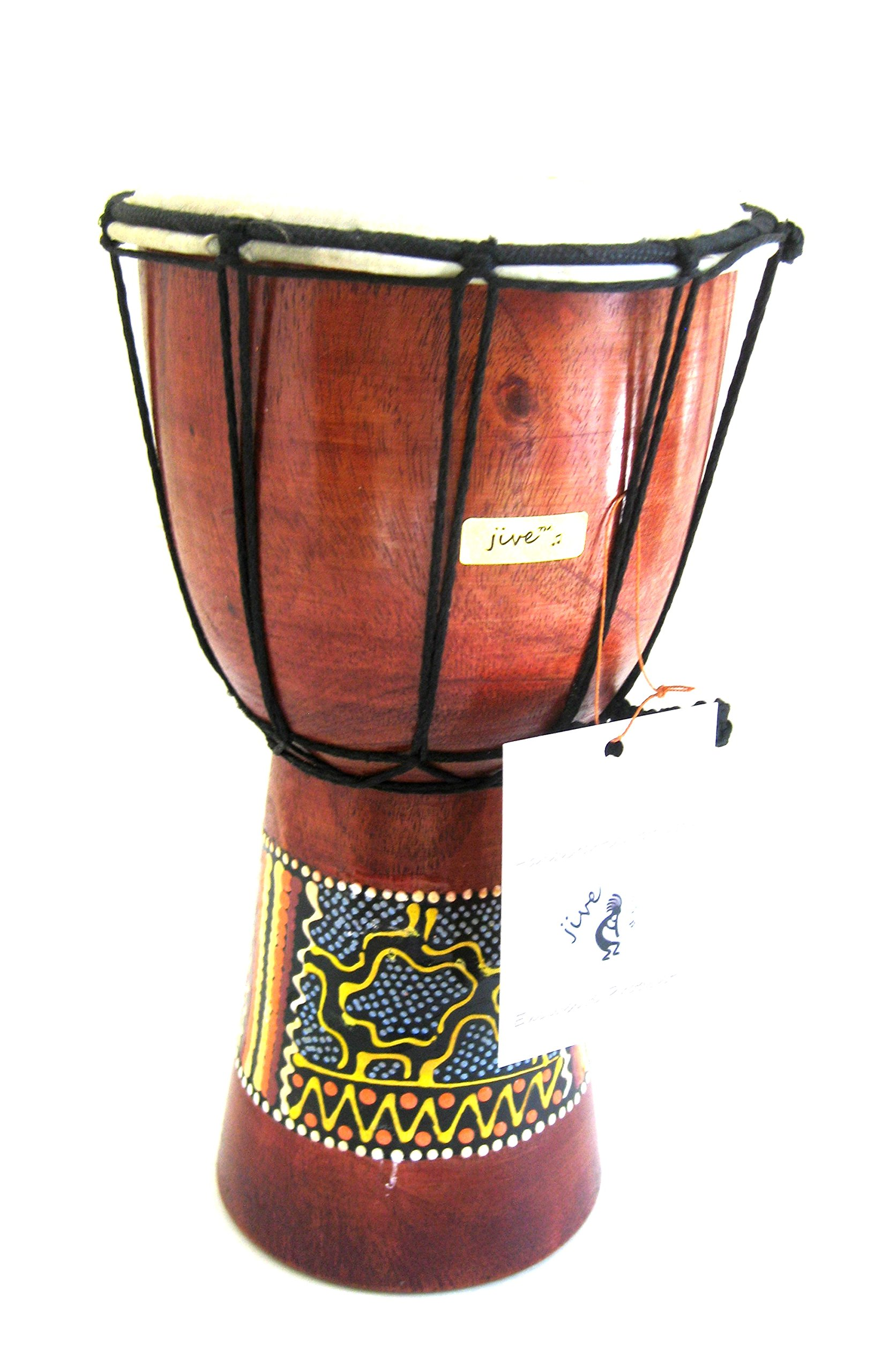 Hand-carved African Solid Wood Conga Drum Super Tumba with Bass 13x30