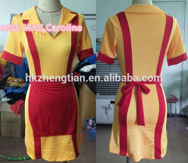 Wholesale fancy dress instyles walson cheap carnival Broke Girls Waitress TV Series Uniform Adult Costume Outfiterotic lingerie